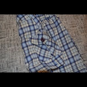 The Children's Place Bottoms - The Children's Place Blue and White Plaid Skirt